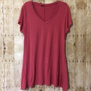 Adorn fit and flare v neck tunic top